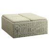 Kingstown Home Novella Stripe Print Storage Ottoman