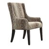 Kingstown Home Mandala Oval Chain Print Sloped Arm Chair