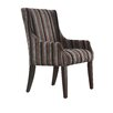 Kingstown Home Mandala Stripe Print Sloped Arm Chair