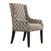 Kingstown Home Mandala Wavy Stripe Print Sloped Arm Chair