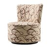 Kingstown Home Alfosa Scroll Print Swivel Accent Chair