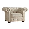 Kingstown Home Carthusia Tufted Button Rolled Arm Chair