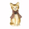 <strong>Craft Outlet</strong> Vintage Papier Mache Sitting Cat Collectible Figurine