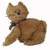 <strong>Craft Outlet</strong> Shabby Elegance Chenille Fabric Cat Collectible Doll Figurine