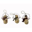 Craft Outlet Snowman Twig Arm Ornament (Set of 3)