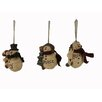 Craft Outlet Snowmen Holding Tree Ornament (Set of 6)