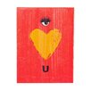 "Holly & Martin Swoon Wall Panel ""Eye Heart U"" Painting Print Plaque"