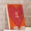 "Holly & Martin Swoon Wall Panel ""You Are My Heart"" Painting Print Plaque"