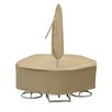 PCI by Adco Round Table and High Back Chair Cover with Umbrella Hole
