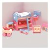 <strong>Le Toy Van</strong> Bubblegum Dollhouse Kid's Room Set