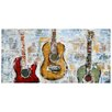 Benjamin Parker Galleries Guitar Trio Original Painting Wrapped on Canvas