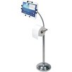 CTA Digital Pedestal Stand with Roll Holder for iPad Air/iPad and Retina Display/iPad 3rd Gen/iPad 2/Tablet