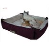 <strong>Cat Bed in Burgundy and Ivory</strong> by Armarkat