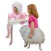 My Girls Doll House Disney Princess Real Wood Vanity