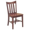 "Russwood Select Series 18"" Solid Oak Scooped Back Chair"