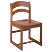 "Russwood Select Series 18"" Solid Oak Arched Back Chair"