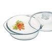 Simax 2.1-qt. Borosilicate Glass Round Casserole