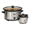Elite by Maxi-Matic Cuisine 5-Quart Slow Cooker with Mini Dipper