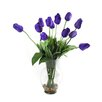 Dalmarko Designs Tulips in Glass Vase