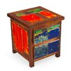 <strong>EcoChic Lifestyles</strong> Go Fish Reclaimed Wood Side Table