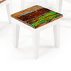EcoChic Lifestyles Rock-a-Bye Reclaimed Wood Side Table