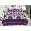 Cathay Home, Inc Majestic Damask 3 Piece Comforter Set (Set of 3)