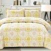 Cathay Home, Inc Ikat Medallion 3 Piece Comforter Set (Set of 3)