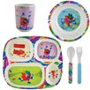 Knack3 Zing Creations Zinger Zoo 5 Piece Dinnerware Set