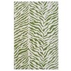 River of Goods Green and White Tiger Rug