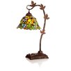 """River of Goods Stained Glass Floral Leaf 23"""" Desk Table Lamp"""