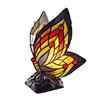"""River of Goods Stained Glass Butterfly Wings 9.5"""" Accent Table Lamp"""