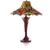 "River of Goods Stained Glass Bouquet of Elegance 24.5"" Table Lamp"