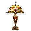 """River of Goods Stained Glass Cathedral Double Lit 29"""" Table Lamp with Bell Shade"""