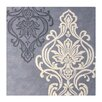 River of Goods Damask Gray Plants Area Rug