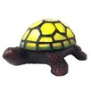 "River of Goods Stained Glass LED Wireless Turtle Accent 2.5"" H Table Lamp"