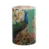 River of Goods Floral Peacock Flameless LED Candle