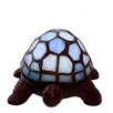 "River of Goods Stained Glass LED Wireless Turtle 2.5"" H Table Lamp"