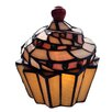 """River of Goods Stained Glass Cupcake 6.5"""" H Table Lamp"""