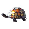 "River of Goods Stained Glass Spotted Turtle 4.75"" H Table Lamp"