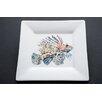 "Kim Rody Creations Something Fishy 7.25"" Lionfish From Atlantis Square Salad Plate"