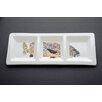 "Kim Rody Creations Sweet Lips 15.5"" Tri-Dish Serving Platter"