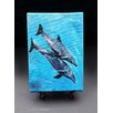 """Kim Rody Creations Ocean """"Jennifer's Dolphins"""" Giclee Print on Gallery Wrapped Canvas"""