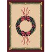 Milliken Winter Seasonal Holiday Wreath Novelty Rug