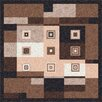 Milliken Pastiche Bloques Brown Leather Rug