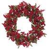 """Silk Flower Depot 22"""" Mini Berry Wreath"""