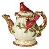 Kaldun & Bogle Christmas Cardinal Teapot
