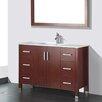 """Adornus Amadis 48"""" Single Bathroom Vanity Set with Mirror"""