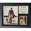 Legends Never Die John Wayne - Wayne with Dog Framed Photo Collage