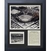 Legends Never Die Chicago White Sox - Comiskey Park B&W Framed Photo Collage