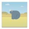 Artist Lane Ross the Rhino by Alex Turnbull Graphic Art on Canvas